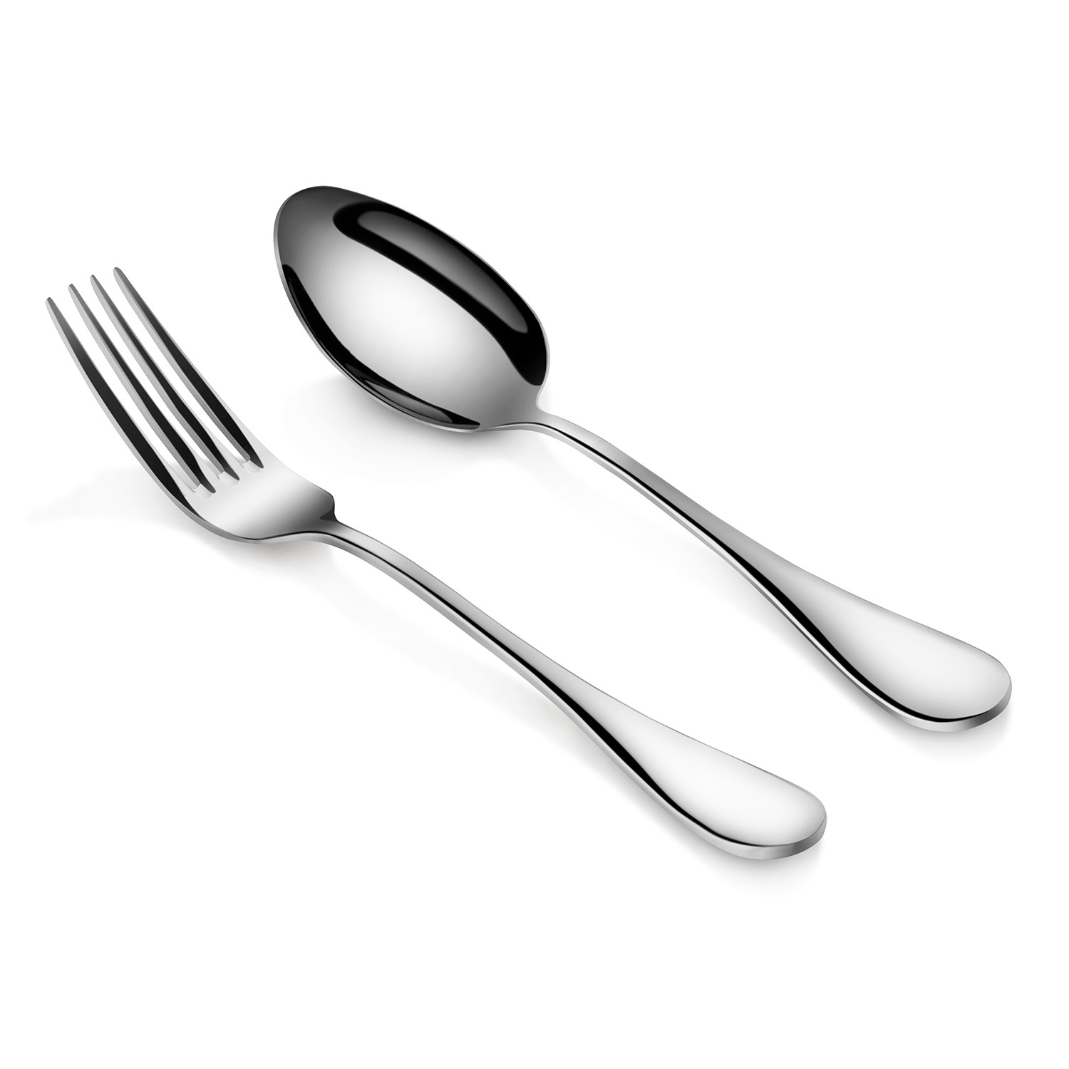 table serving spoon fork set set of 6 silver artaste touch of modern. Black Bedroom Furniture Sets. Home Design Ideas