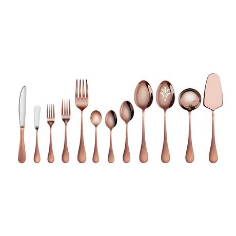 Flatware Set // Antique Copper // 47 Piece