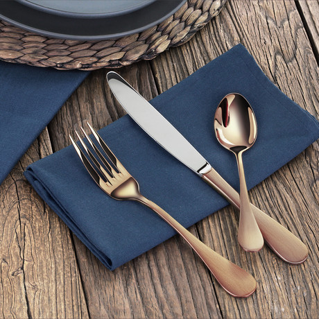 Flatware Set // Antique Copper // 36 Piece