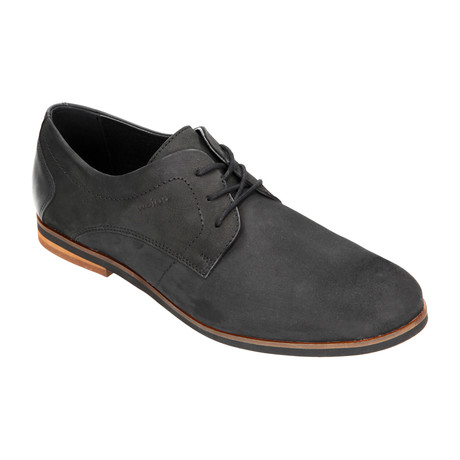 Nubuck Lace-Up Derby // Black (Euro: 40)