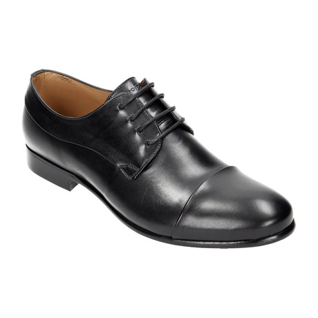 Shiny Cap Toe Derby // Black (Euro: 40)