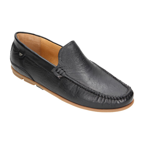 Perforated Slip-On Loafer // Black (Euro: 40)