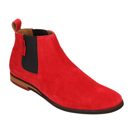 Suede Chelsea Boot // Red (Euro: 40)