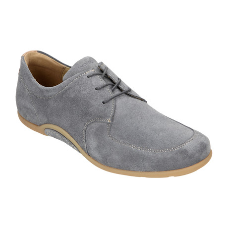 Suede Lace-Up Loafer Driver // Grey (Euro: 40)