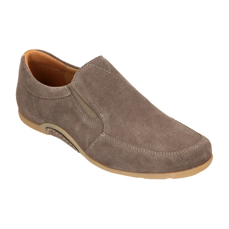 Suede Slip-On Loafer Driver // Dark Beige (Euro: 40)