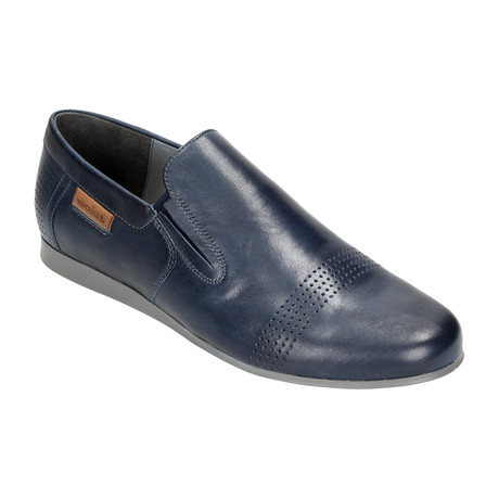 Perforated Toe Slip-On // Dark Blue (Euro: 40)