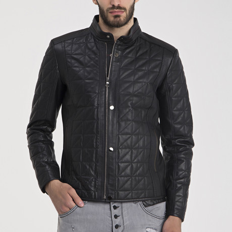 Elijah Leather Jacket // Black (S)