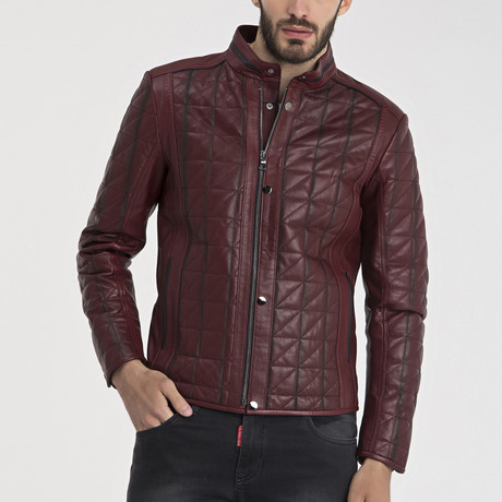 Eli Leather Jacket // Bordeaux (S)