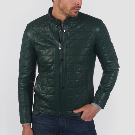 Paul Leather Jacket // Green (S)