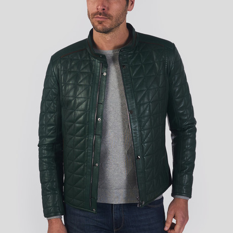 Paul Leather Jacket // Green (L)
