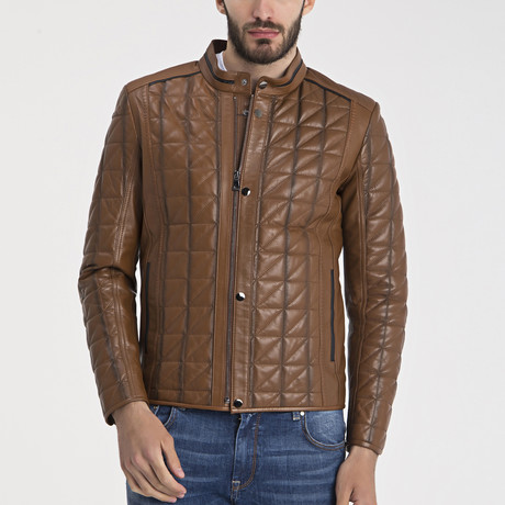 Peter Leather Jacket // Light Brown (S)