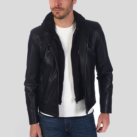 Aiden Leather Jacket // Black (S)