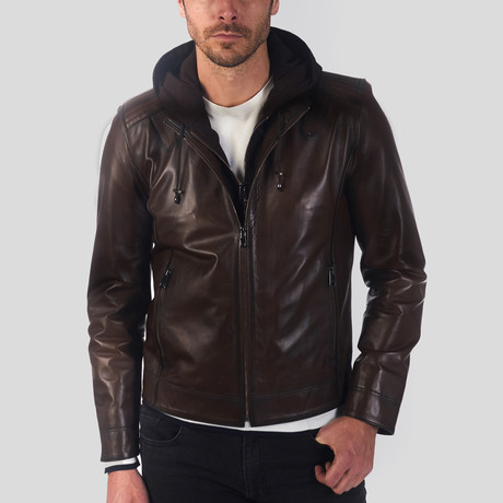 Ryan Leather Jacket // Chestnut (S)
