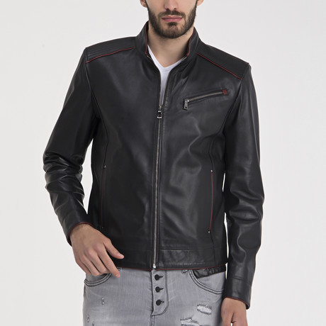Zachary Leather Jacket // Black (S)