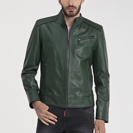 Mathews Leather Jacket // Green (S)