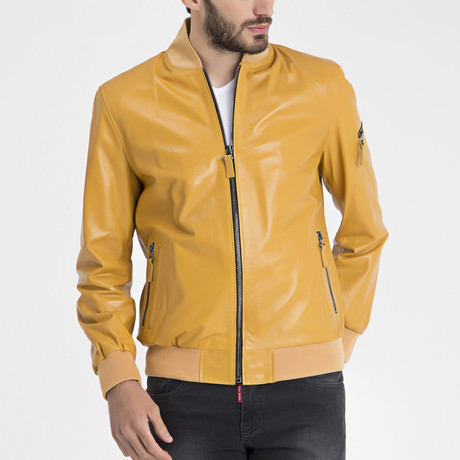 Samuel Leather Jacket // Yellow (S)