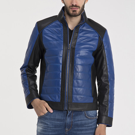 Julius Leather Jacket // Blue (S)