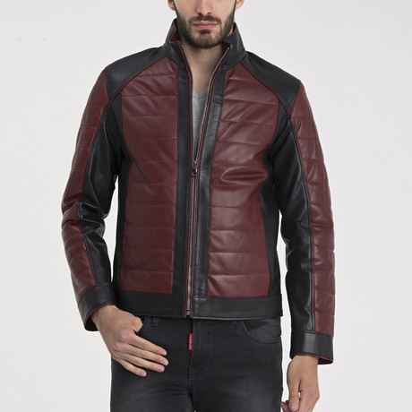 Brett Leather Jacket // Bordeaux (S)