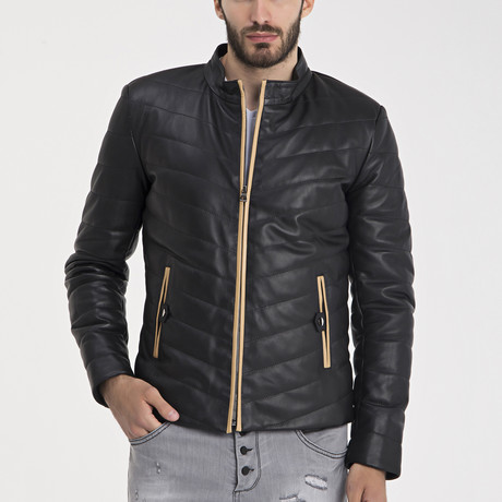 Bobby Leather Jacket // Black (S)