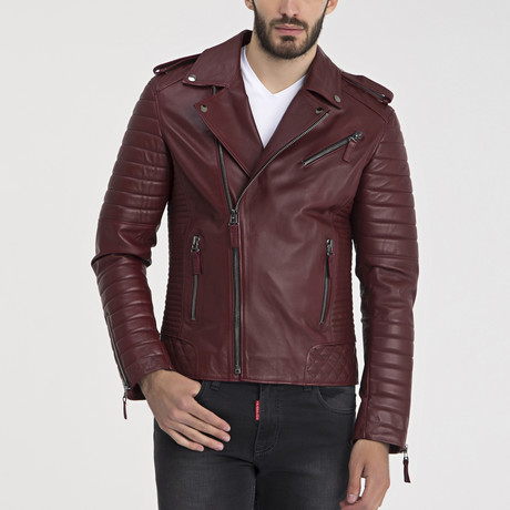 Francis Leather Jacket // Bordeaux (S)