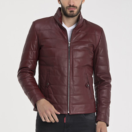 Harold Leather Jacket // Bordeaux (S)