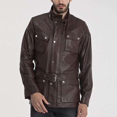 Jamal Leather Jacket // Brown (S)