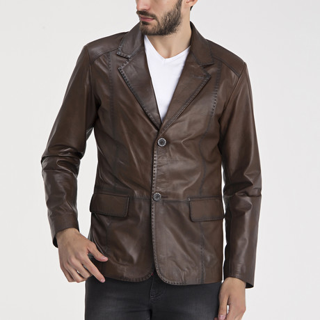 Nathan Leather Jacket // Chestnut (S)