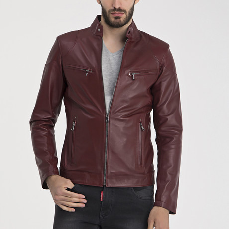 Zeil Leather Jacket // Bordeaux (S)