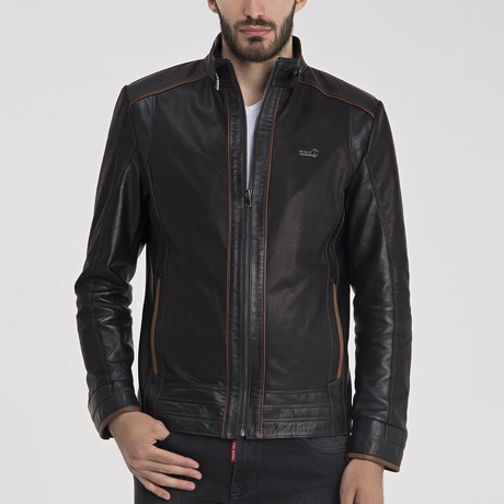 Anthony Leather Jacket // Black (S)