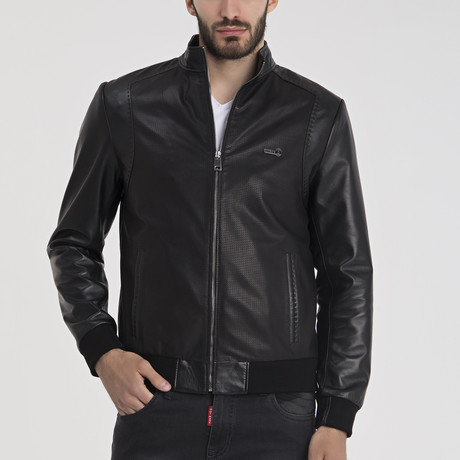Tomas Leather Jacket // Black (S)