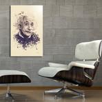 "Albert Einstein // Aluminum (16""L x 24""H x 1.5""D)"