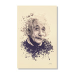 "Albert Einstein // Stretched Canvas (16""L x 24""H x 1.5""D)"