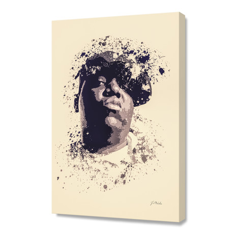"Notorious B.I.G // Stretched Canvas (16""L x 24""H x 1.5""D)"
