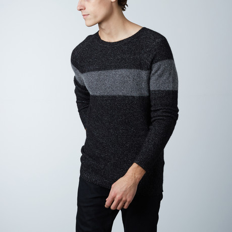 Jax Round Collar Sweater // Black (S)