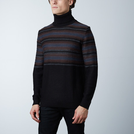 Lombardia Turtle Collar Sweater // Black (S)