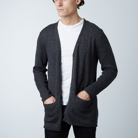 Kremzy Round Collar Sweater // Dark Melange (S)