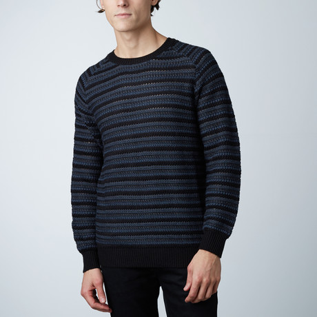 Lanton Round Collar Raglan Sweater // Black (S)