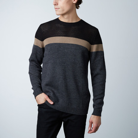 Gaston Round Collar Sweater // Dark Melange (S)