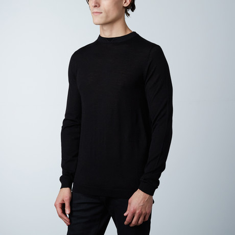 Calson Double Collar Sweater // Black (S)