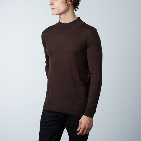 Antony Sweater Round Neck Collar // Brown (S)