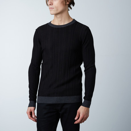 Dante Round Collar Sweater // Black (S)