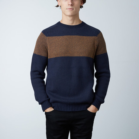 Laslow Round Collar Sweater // Loud Blue (S)