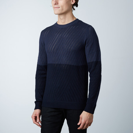Glover Round Collar Sweater // Loud Blue (S)