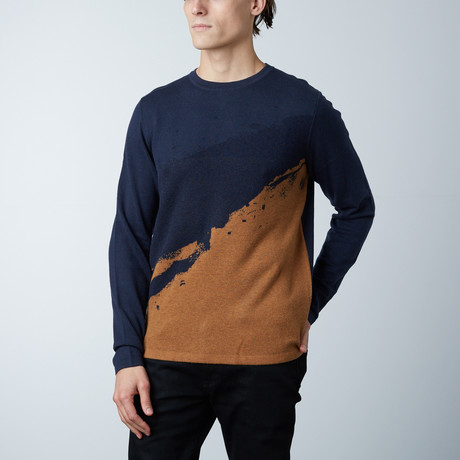 Grammercy Round Collar Sweater // Soft Blue (S)