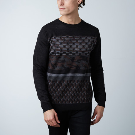 Frederick Round Collar Sweater // Black (S)