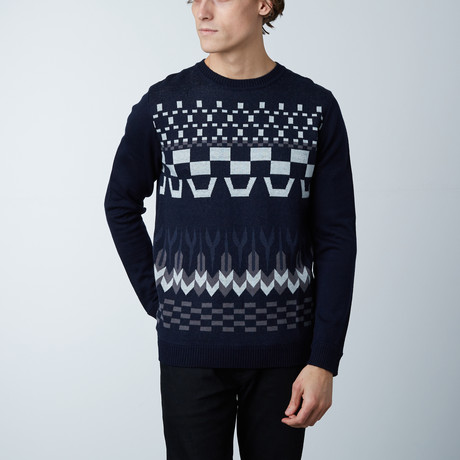 Winton Round Collar Sweater // Loud Blue (S)