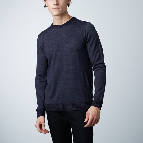 Posse Round Collar Vanise' Effect Sweater // China Blue (S)