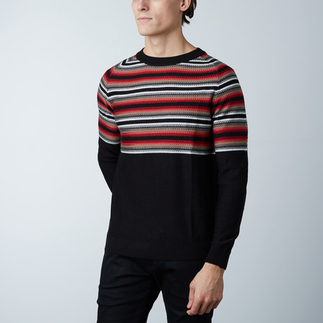 Isle Round Collar Raglan Sweater // Black (S)