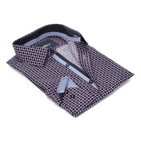 Modern-Fit Men's Dress Shirt // Purple Print (S)
