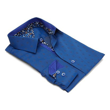 True Modern-Fit Men's Dress Shirt // Royal (S)